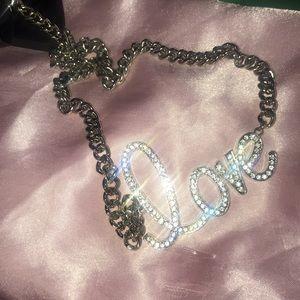 Jeweled love necklace